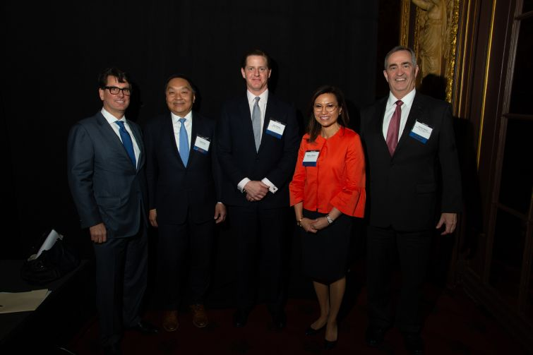 From left, Jeff Fastov, Drew Fung, Alex Foshay, Karen L. Ramos and Jerome Sanzo.