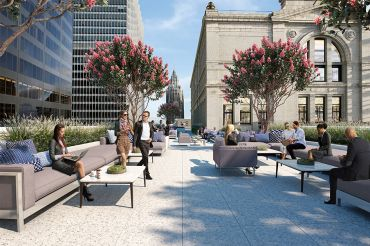The Bankers Club at 120 Broadway is reopening for the first time in 40 years as a tenant-exclusive lounge, food hall and rooftop retreat.