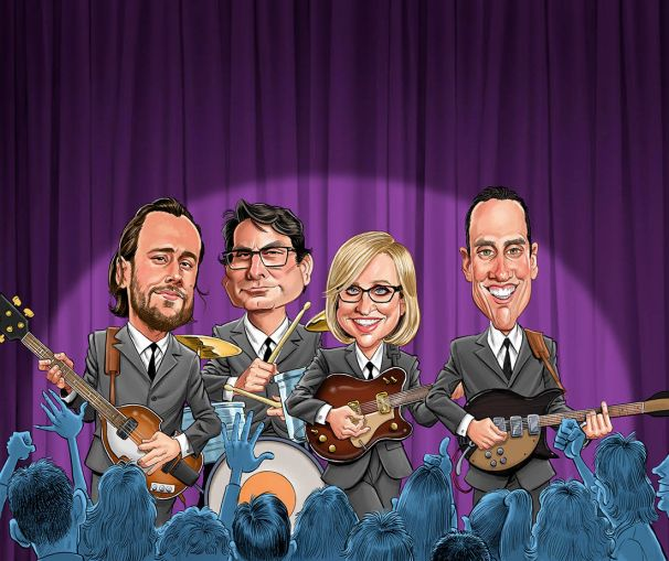 Despite the late business cycle, the industry's most influential lenders never stopped the music. From left to right: Dustin Stolly, Jeff Fastov, Greta Guggenheim and Jonathan Pollack.