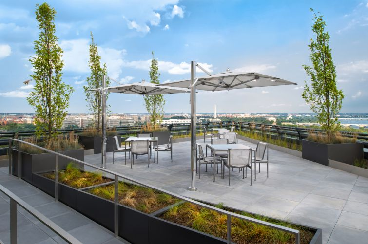 Rosslyn's Potomac Tower rooftop offers incredible views of DC