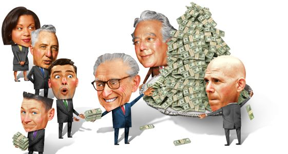 Developers (clockwise from bottom left) Larry Silverstein, Aby Rosen and Scott Rechler have all gotten into the lending game.