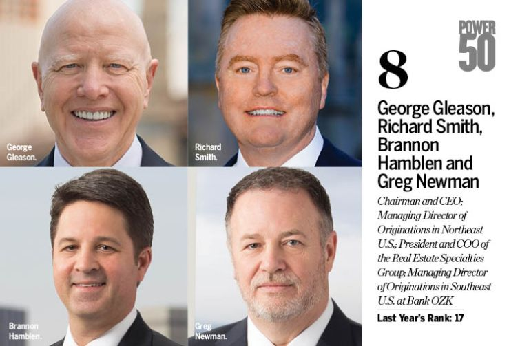 George Gleason, Richard Smith, Brannon Hamblen and Greg Newman.