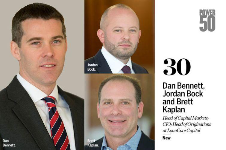 Dan Bennett, Jordan Bock and Brett Kaplan.