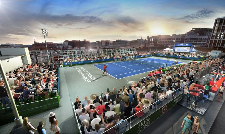 Washington Kastles pop-up stadium rendering