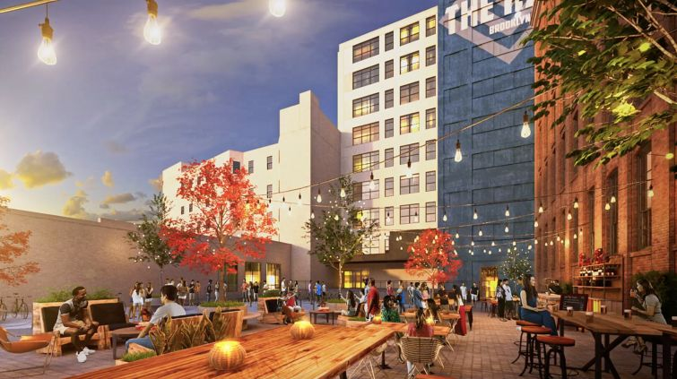 Artist Rendering: Backporch at The Hall in Brooklyn