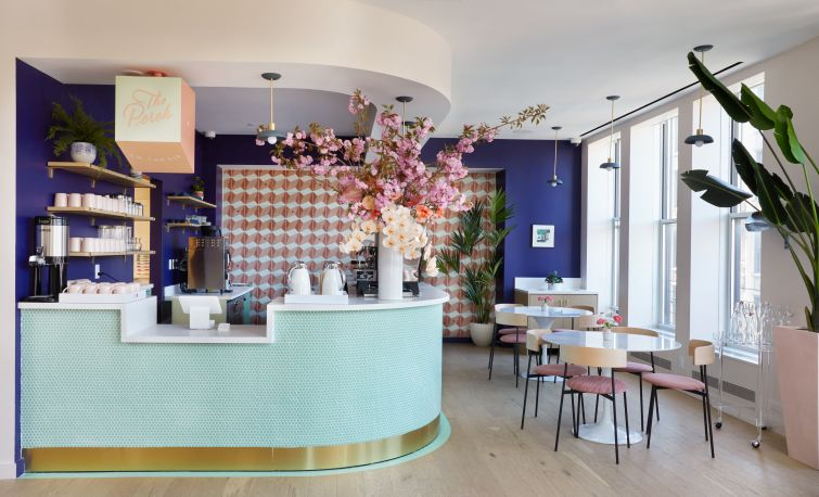 """The lower floor of The Wing's Flatiron outpost gets a coffee bar and grab-and-go food spot called """"Perch on the Fly."""""""