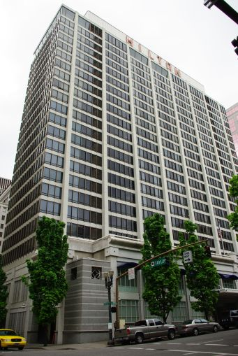 The Hilton Portland Downtown in Portland, Ore.