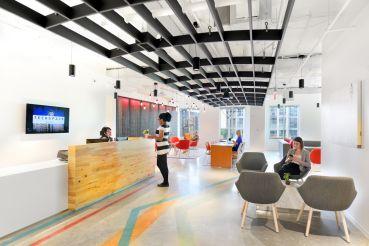 Interior of TechSpace's Ballston location in Arlington, Va.