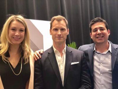 Amanda Murray, Preston Pesek and Justin Stewart at ICSC 2019.