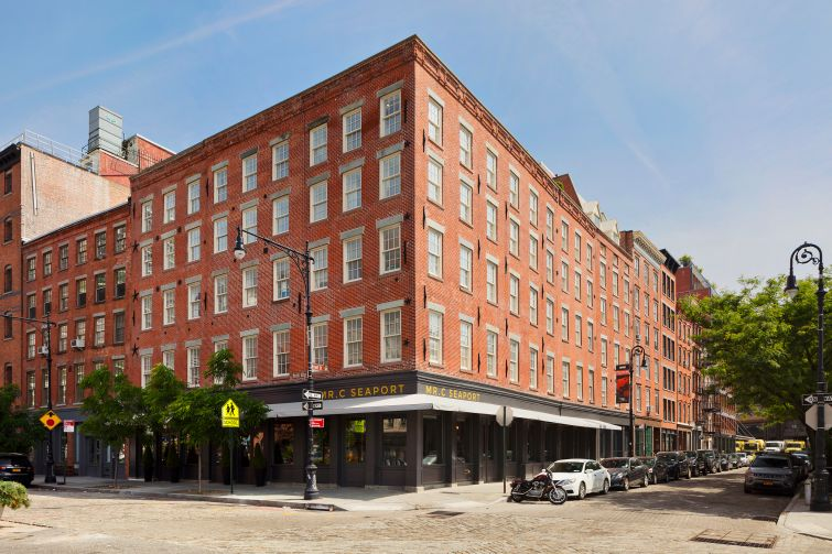 The Mr. C Hotel on Peck Slip in Lower Manhattan.
