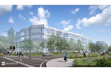 A rendering of the planned Catalyst project in Sunnyvale, Calif.