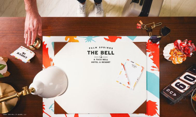 Taco Bell Hotel front desk.