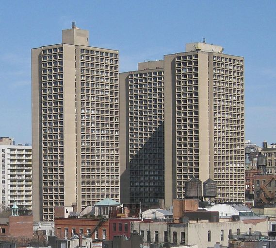 Silver Towers at University Village were completed for New York University in 1967.