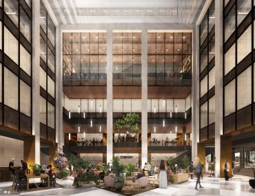 A renovation at 335 Madison Avenue is creating a new lobby with lounge seating and open areas on the second and third floors.