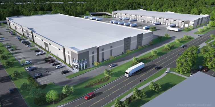 A rendering of Scannell's two planned Jacksonville industrial properties.