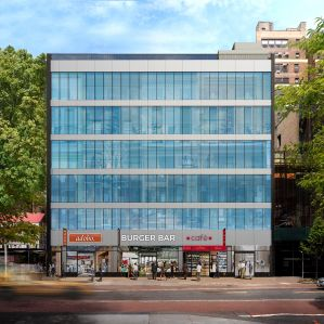 A rendering of a completed 263 West 34th Street.