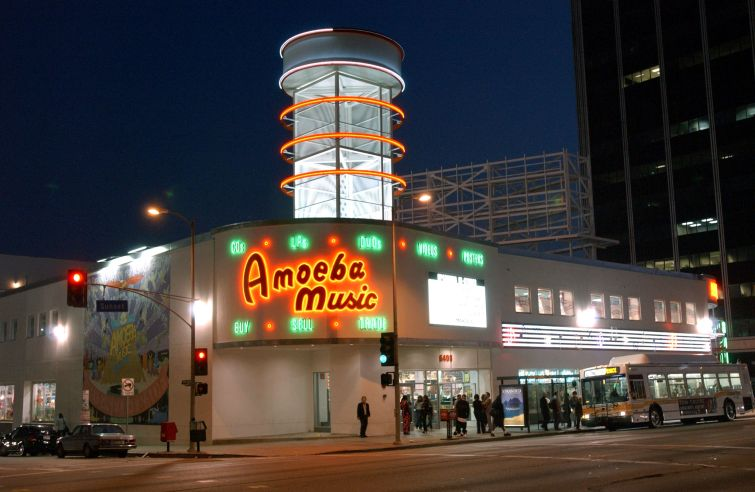 Amoeba Music store.