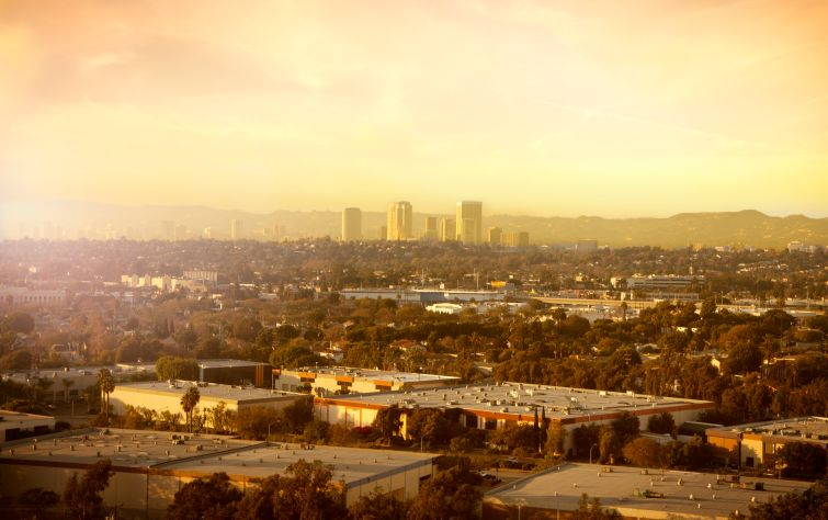 A view of Century City and Culver City.