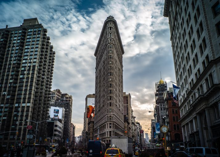 The Flatiron Building.