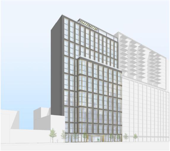 A rendering of 308 Livingston Street.