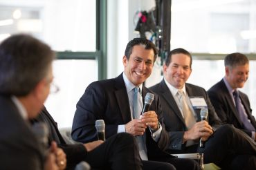 Peter Riguardi, Vincent Martino, and Marty Burger during the Midtown Forum.