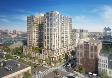 A rendering of 201 East 125th Street, aka One East Harlem.