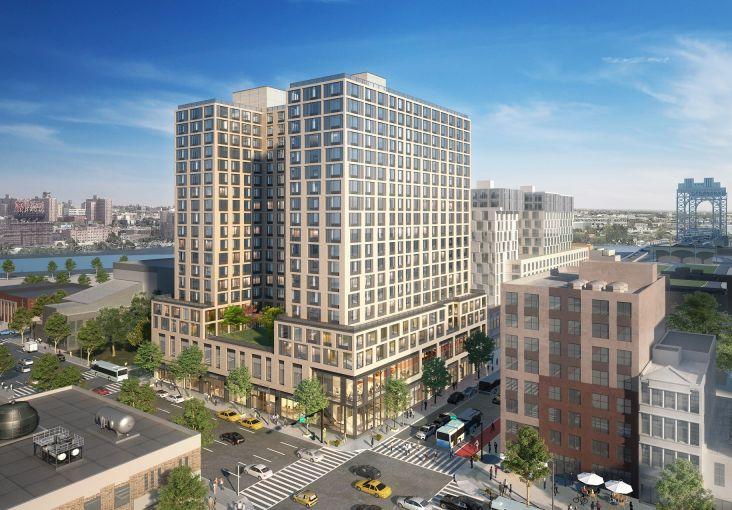A rendering of 201 East 125th Street, aka One East Harlem.