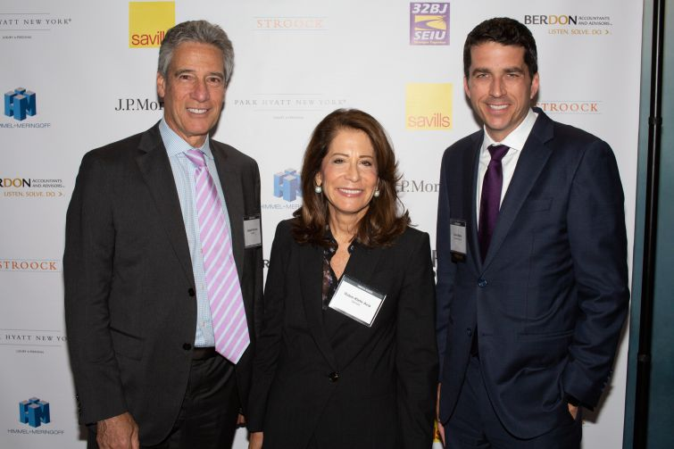 From left to right: Gensler co-managing principals Joseph Brancato and Robin Klehr Avia and Daniel Moore, the president and CEO of Rockefeller Group.
