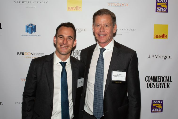 Brookfield real estate managing partners Ben Brown, left, and Ric Clark.