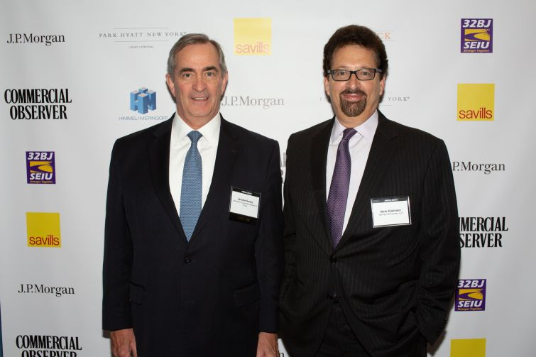 ICBC's head of real estate finance, Jerome Sanzo, left, and Mark Edelstein, chair of Morrison Foerster's global real estate group.