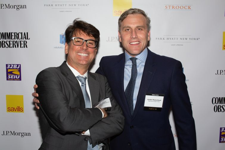 Square Mile Capital Management senior managing director Jeff Fastov, left, with Newmark Knight Frank's vice chairman and co-head of debt and structured finance, Jordan Roeschlaub.
