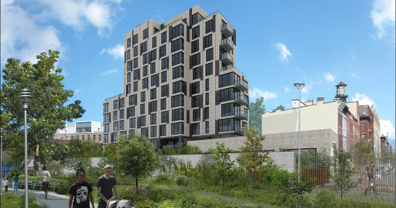 A rendering of 30 Kent Street.