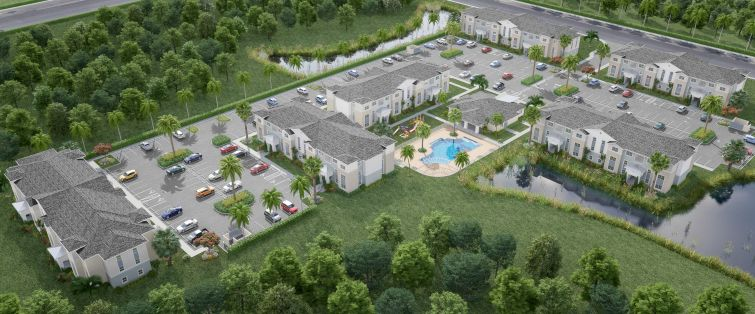 A rendering of the proposed project in suburban Tamp.
