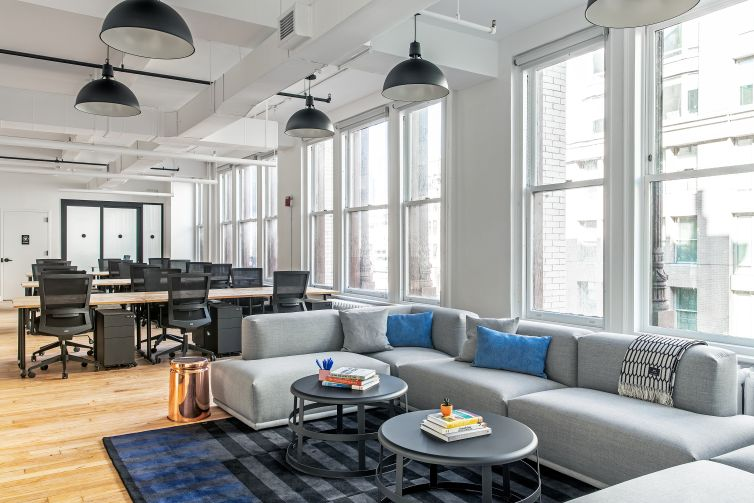 Interior of a Headquarters by WeWork.