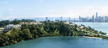 A rendering of the planned three-phase residential development on Yerba Buena Island.