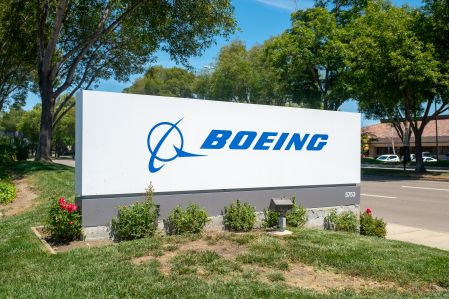A sign outside of a Boeing office.