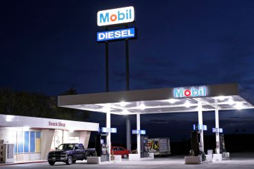 Mobil gas station.