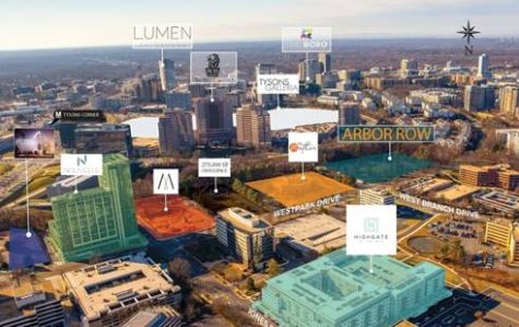 Aerial rendering of site.
