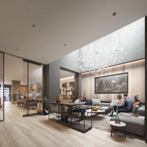 Part of the appeal of the Midtown South building is its slew of amenities.