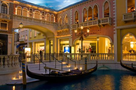 The Grand Canal Shoppes in Las Vegas.
