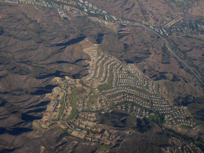 An Aeriel View of Calabasas.