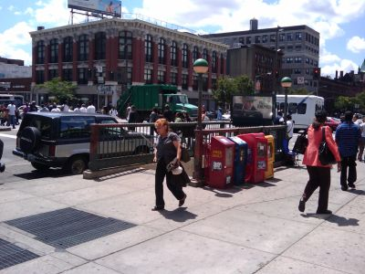 A view of East 125th Street in East Harlem.