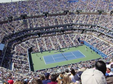 The City Comptroller claims the U.S. Tennis Association owes $311,000 in unpaid rent for the National Tennis Center, which includes U.S. Open venue Arthur Ashe Stadium, above.
