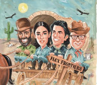 The pionieers of coworking, Amol Sarva of Knotel, Audrey Gelman of The Wing, Adam Neumann of WeWork and Mark Dixon of Regus.
