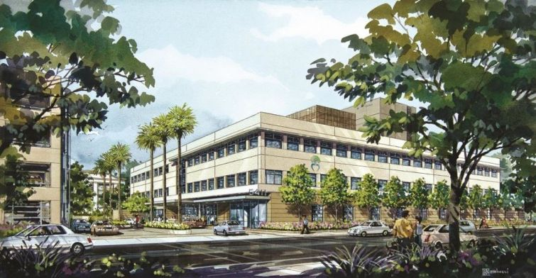 Rendering of Tarzana Medical Atrium.
