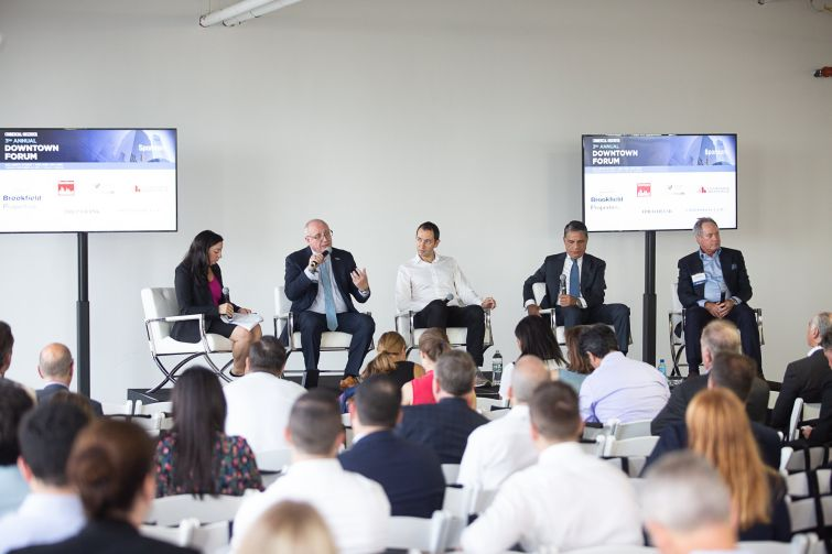 Bruce Mosler, Edward Shenderovich, Joseph Moinian and Paul Pariser discuss the growth of coworking.