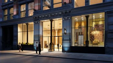 A rendering of 888 Broadway's entrance.