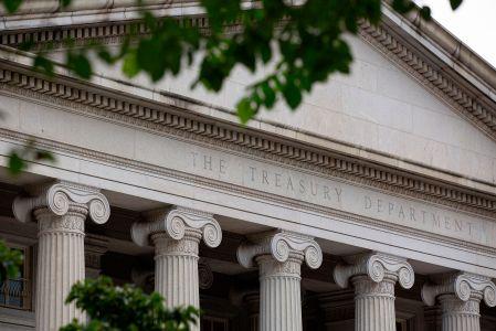 The U.S. Treasury Department building in Washington, D.C.