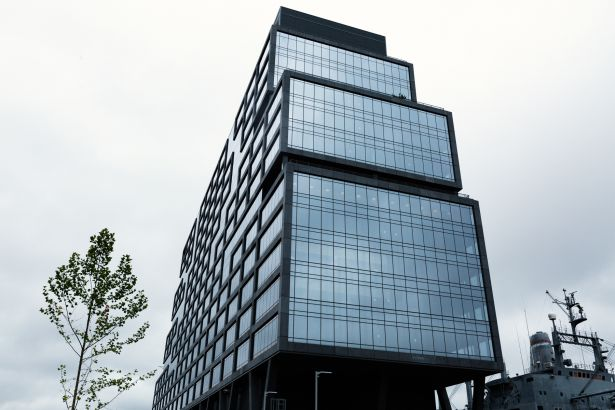 Dock 72, the 16-story office building in the Brooklyn Navy Yard, whose anchor is WeWork.