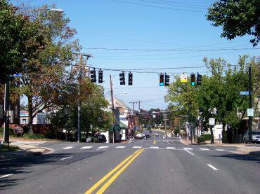 Downtown Fairfax, Virginia.